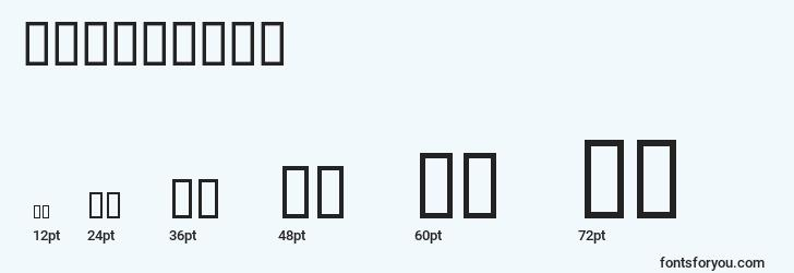 sizes of serious4b font, serious4b sizes
