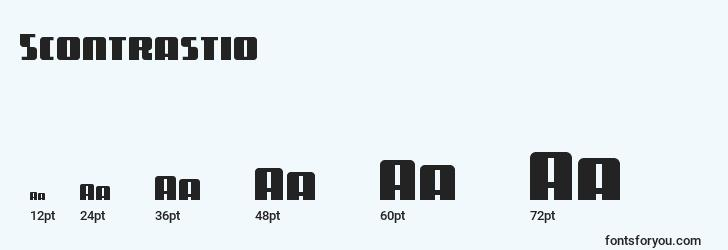 sizes of 5contrastio font, 5contrastio sizes