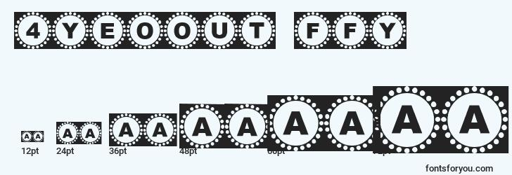 sizes of 4yeoout ffy font, 4yeoout ffy sizes
