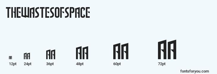 sizes of thewastesofspace font, thewastesofspace sizes