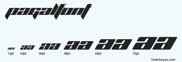 sizes of pagalfont font, pagalfont sizes