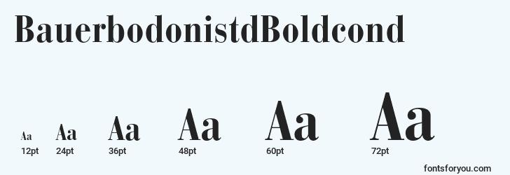sizes of bauerbodonistdboldcond font, bauerbodonistdboldcond sizes