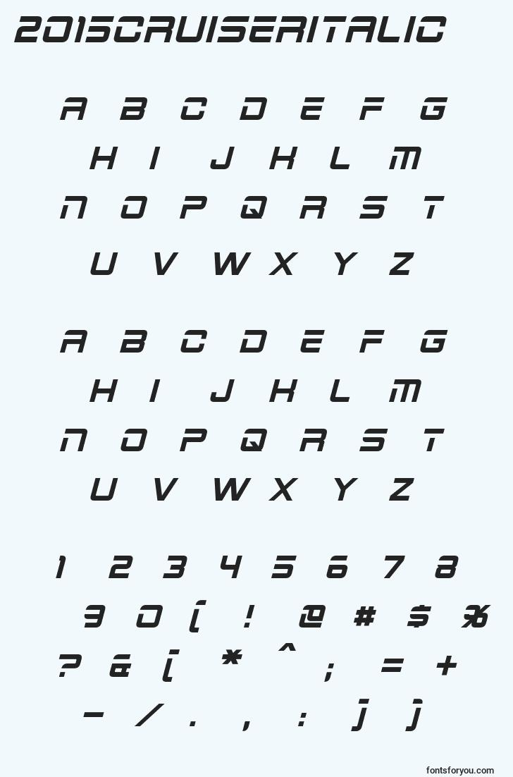 characters of 2015cruiseritalic font, letter of 2015cruiseritalic font, alphabet of  2015cruiseritalic font