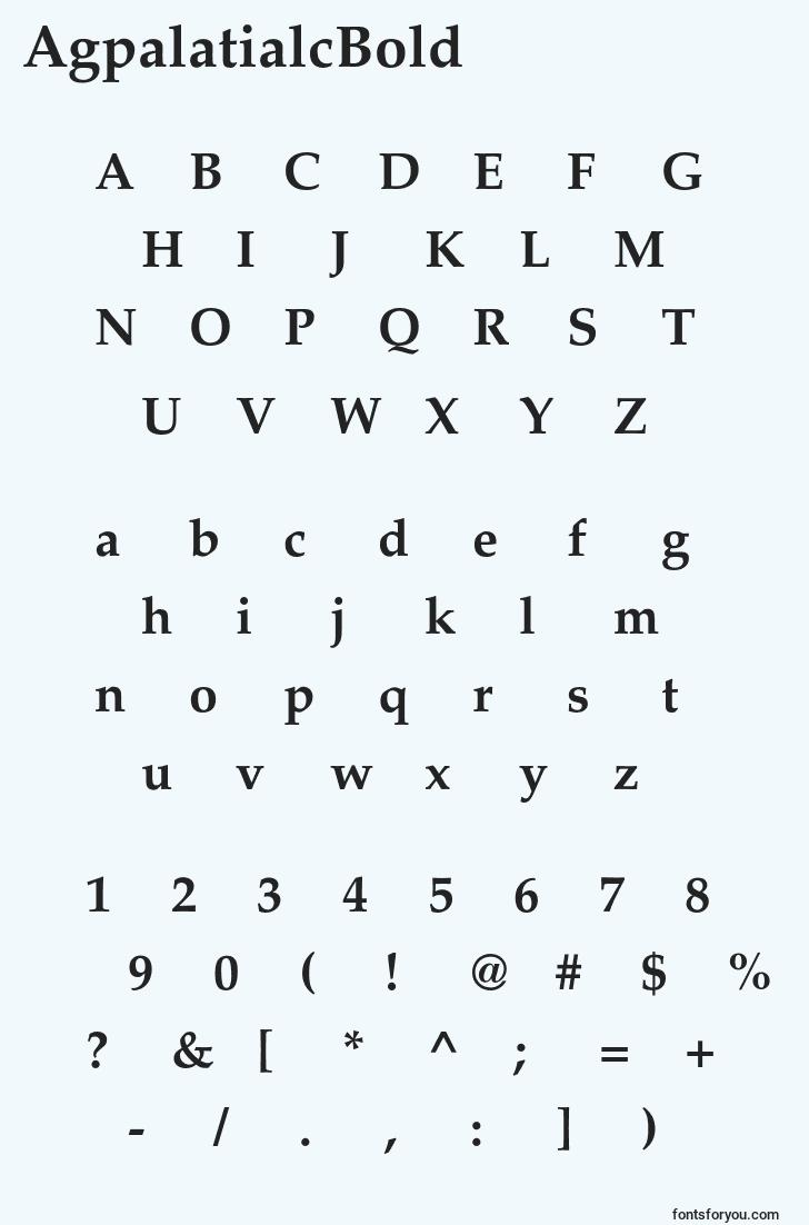 characters of agpalatialcbold font, letter of agpalatialcbold font, alphabet of  agpalatialcbold font