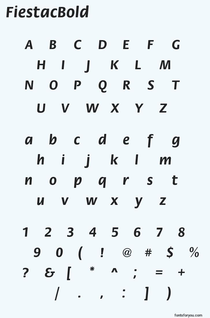 characters of fiestacbold font, letter of fiestacbold font, alphabet of  fiestacbold font