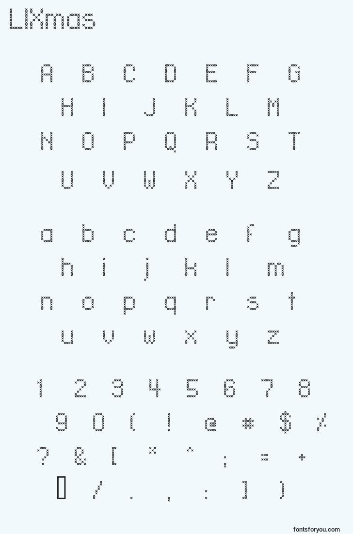 characters of llxmas font, letter of llxmas font, alphabet of  llxmas font