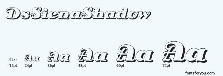 sizes of dssienashadow font, dssienashadow sizes