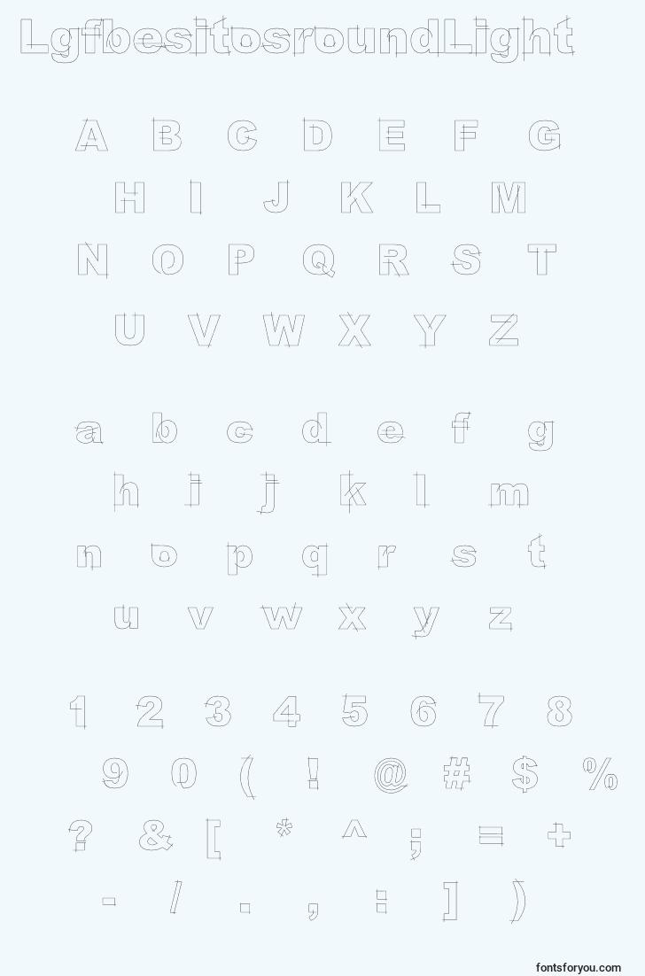 characters of lgfbesitosroundlight font, letter of lgfbesitosroundlight font, alphabet of  lgfbesitosroundlight font