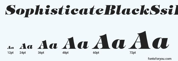 sizes of sophisticateblackssiextrabolditalic font, sophisticateblackssiextrabolditalic sizes
