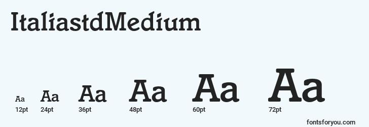 sizes of italiastdmedium font, italiastdmedium sizes