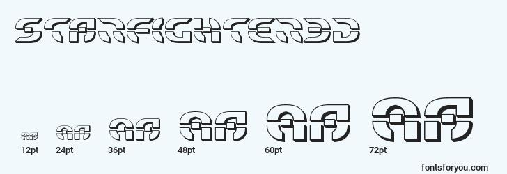 sizes of starfighter3d font, starfighter3d sizes