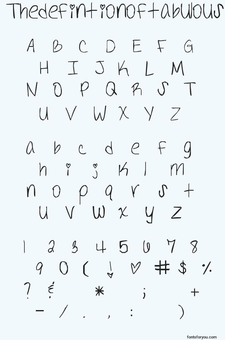 characters of thedefintionoftabulous font, letter of thedefintionoftabulous font, alphabet of  thedefintionoftabulous font