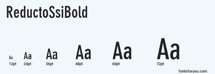 sizes of reductossibold font, reductossibold sizes