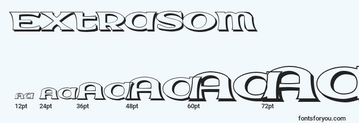 sizes of extrasom font, extrasom sizes