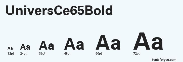 sizes of universce65bold font, universce65bold sizes