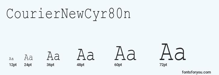 sizes of couriernewcyr80n font, couriernewcyr80n sizes