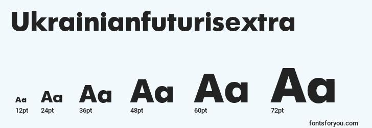 sizes of ukrainianfuturisextra font, ukrainianfuturisextra sizes