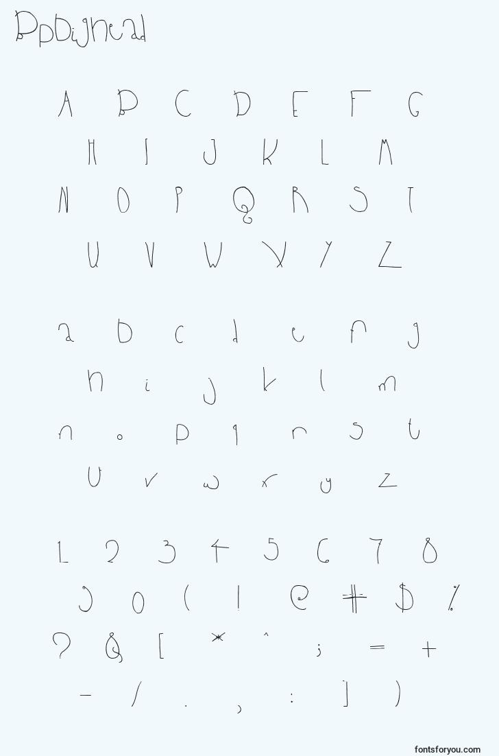 characters of bpbighead font, letter of bpbighead font, alphabet of  bpbighead font