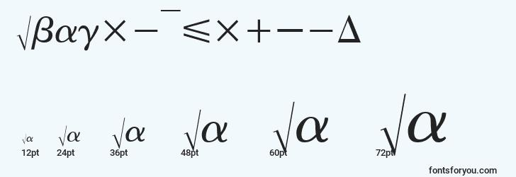 sizes of abacusfourssi font, abacusfourssi sizes