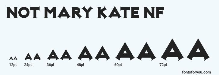 sizes of not mary kate nf font, not mary kate nf sizes