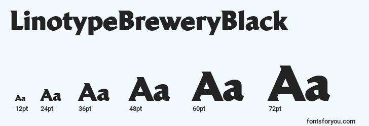 sizes of linotypebreweryblack font, linotypebreweryblack sizes