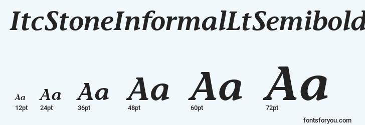 sizes of itcstoneinformalltsemibolditalic font, itcstoneinformalltsemibolditalic sizes