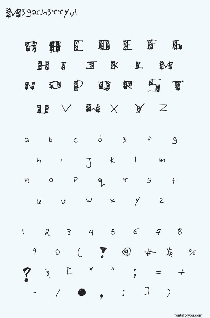 characters of megacherryv1 font, letter of megacherryv1 font, alphabet of  megacherryv1 font