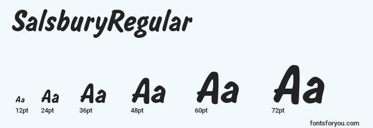 sizes of salsburyregular font, salsburyregular sizes