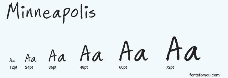 sizes of minneapolis font, minneapolis sizes