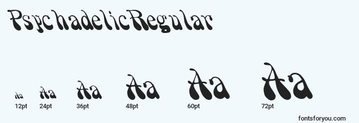 sizes of psychadelicregular font, psychadelicregular sizes
