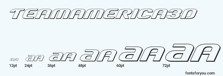 sizes of teamamerica3d font, teamamerica3d sizes