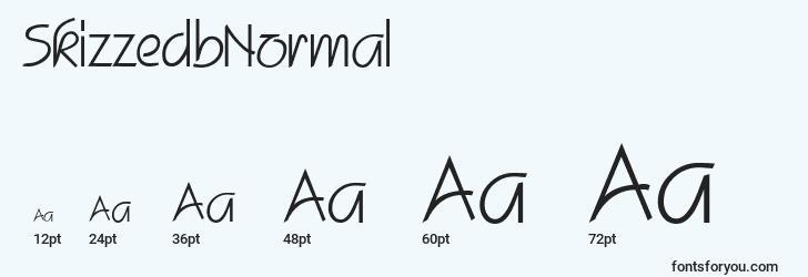 sizes of skizzedbnormal font, skizzedbnormal sizes