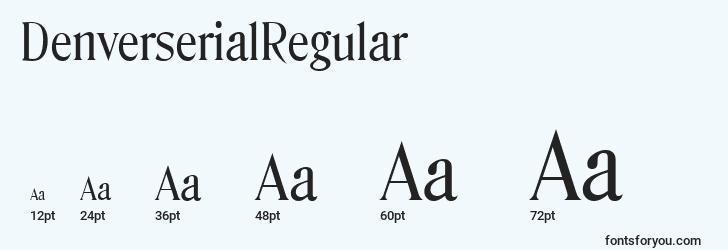 sizes of denverserialregular font, denverserialregular sizes