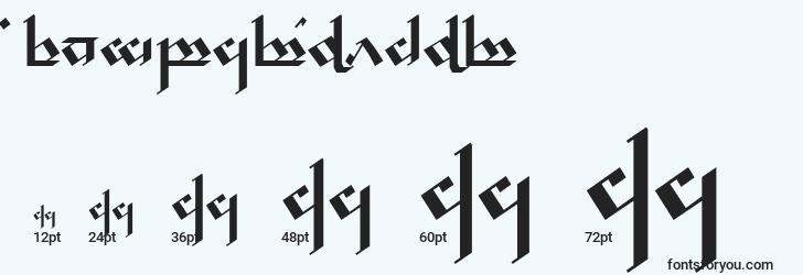 sizes of tengwarnoldor font, tengwarnoldor sizes