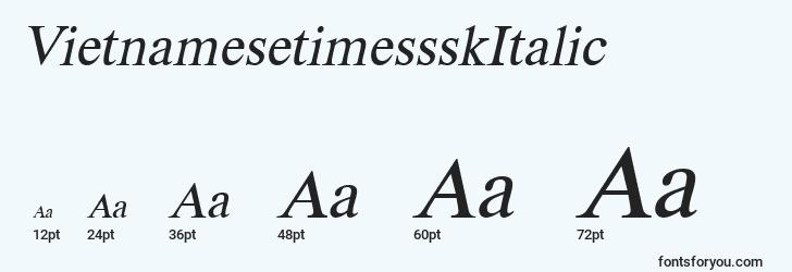 sizes of vietnamesetimessskitalic font, vietnamesetimessskitalic sizes