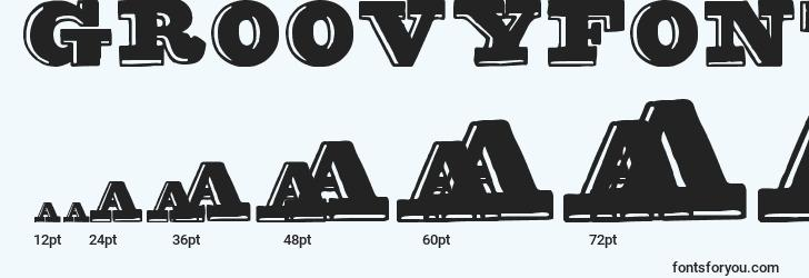 sizes of groovyfont font, groovyfont sizes