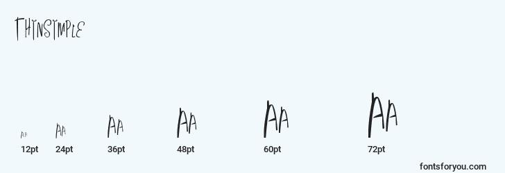 sizes of thinsimple font, thinsimple sizes