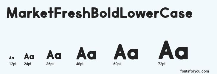 sizes of marketfreshboldlowercase font, marketfreshboldlowercase sizes
