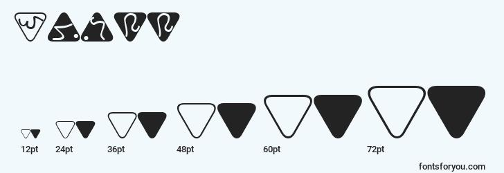 sizes of trill font, trill sizes