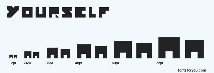 sizes of yourself font, yourself sizes