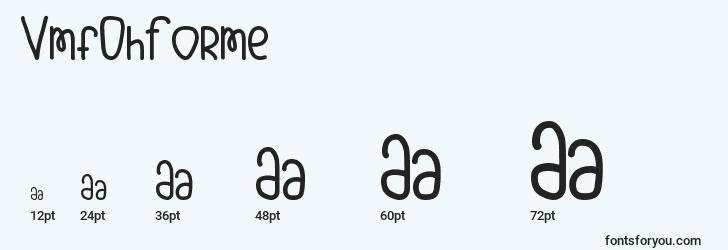 sizes of vmfohforme font, vmfohforme sizes