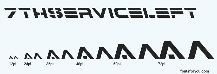 sizes of 7thserviceleft font, 7thserviceleft sizes