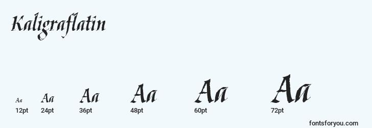 sizes of kaligraflatin font, kaligraflatin sizes