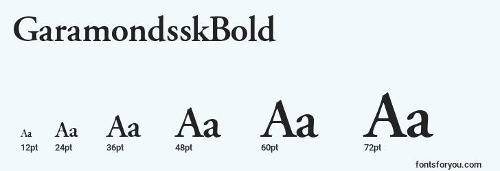 sizes of garamondsskbold font, garamondsskbold sizes