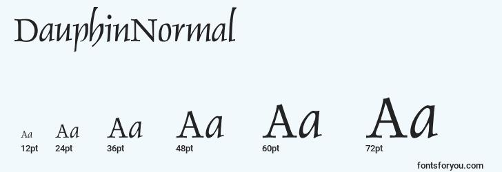 sizes of dauphinnormal font, dauphinnormal sizes