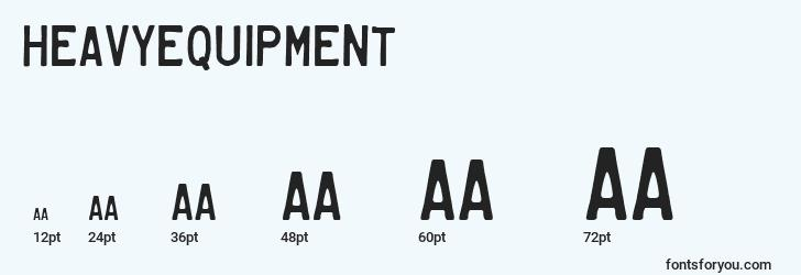 sizes of heavyequipment font, heavyequipment sizes