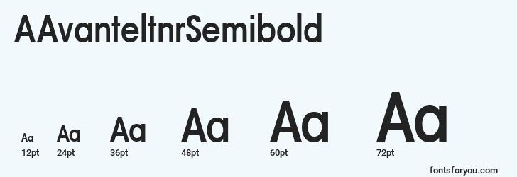 sizes of aavanteltnrsemibold font, aavanteltnrsemibold sizes