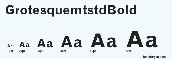sizes of grotesquemtstdbold font, grotesquemtstdbold sizes