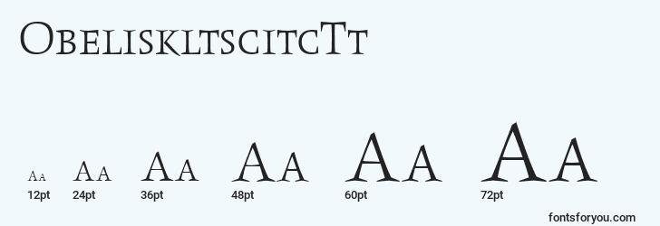 sizes of obeliskltscitctt font, obeliskltscitctt sizes