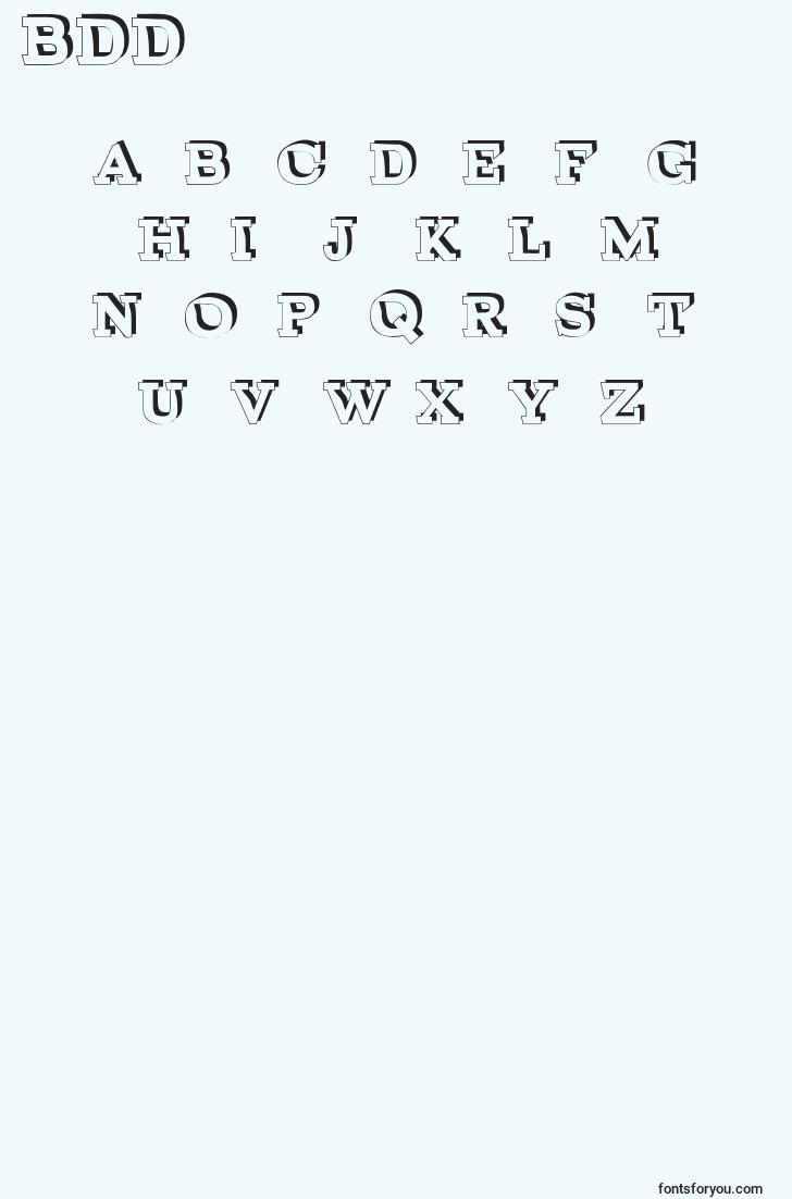 characters of brokendepthdemo font, letter of brokendepthdemo font, alphabet of  brokendepthdemo font